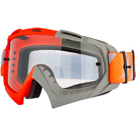 O'Neal B-10 Lunettes de protection, twoface-orange/gray-clear